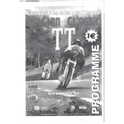 2013 Gedinne Belgian Classic T.T Race Meeting (24-25/08/2013) Motor Cycle Racing Programme