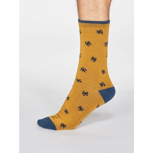 Thought Wesley Frog Bamboo Organic Cotton Blend Socks