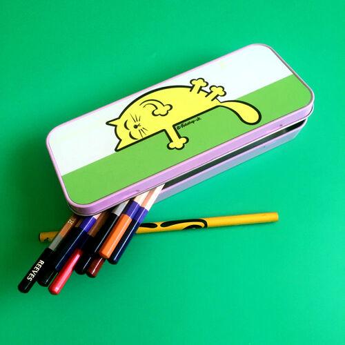'Yellow Sleepy Cat' Tin