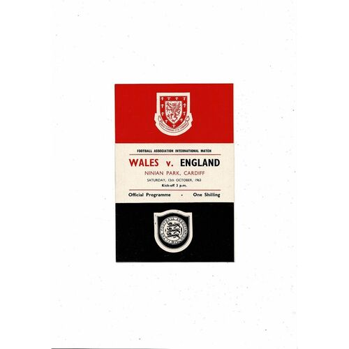 1963 Wales v England Football Programme @ Cardiff