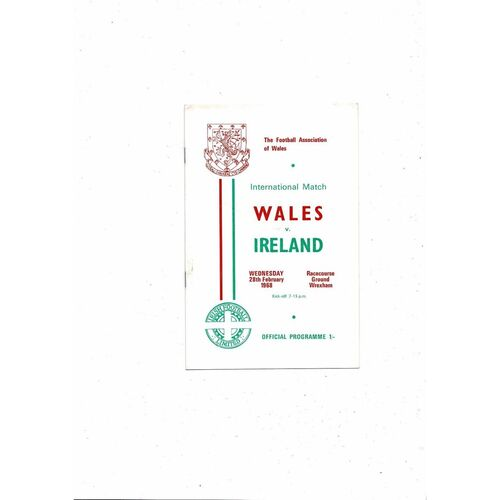 1968 Wales v Northern Ireland Football Programme + Press cutting