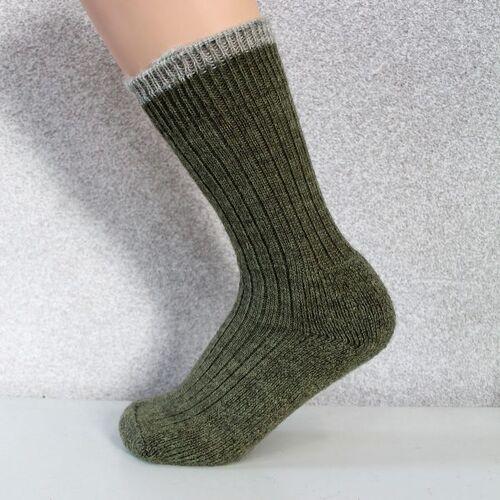 Woolyknit Wool Socks - Dark Apple with Morning Frost Tip