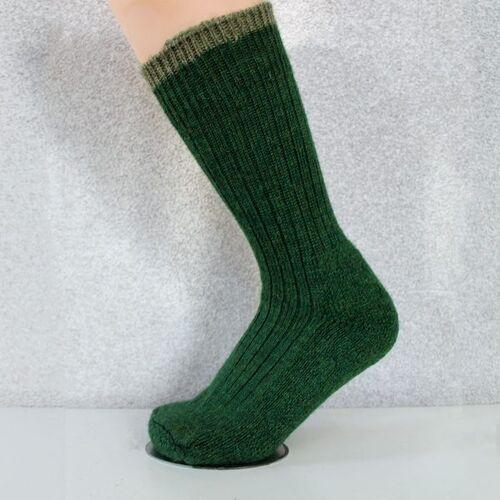 Woolyknit Wool Socks - Celtic Green with Dark Apple Tip