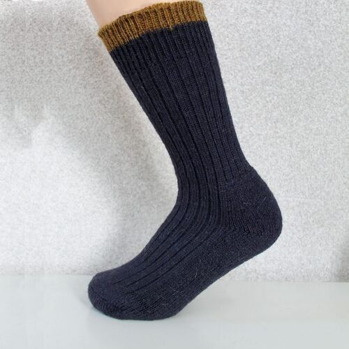 Woolyknit Wool Socks - Navy with Harvest Tip