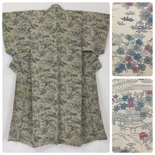 M, beige kimono for women