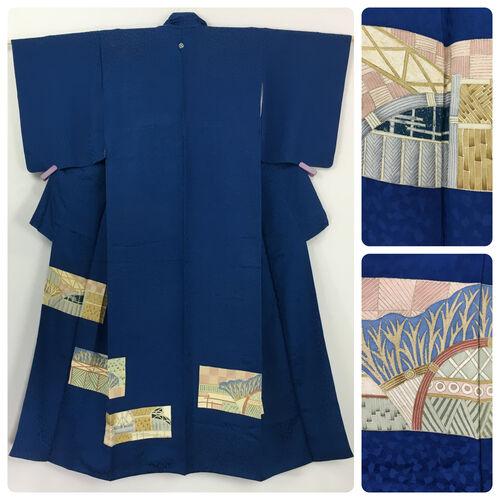 S-M, blue kimono for women
