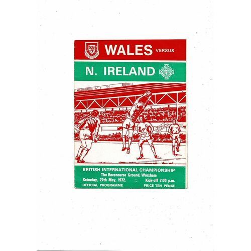 1972 Wales v Northern Ireland Football Programme