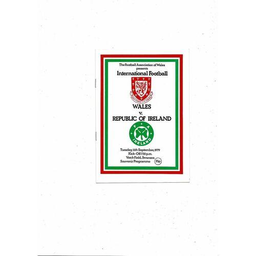 1979 Wales v Republic of Ireland Football Programme
