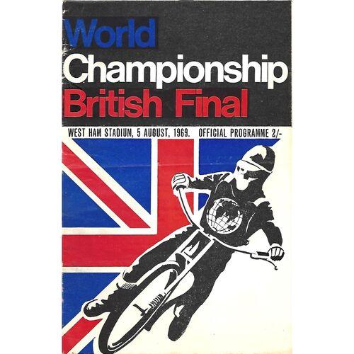 World Championship British Final Speedway Programmes