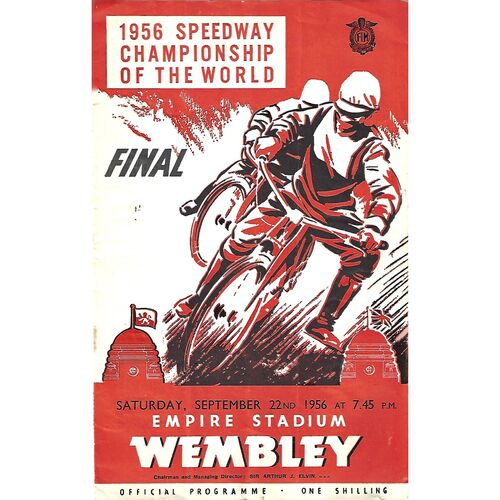 1956 Championship of the World (22/09/1956) Speedway Programme