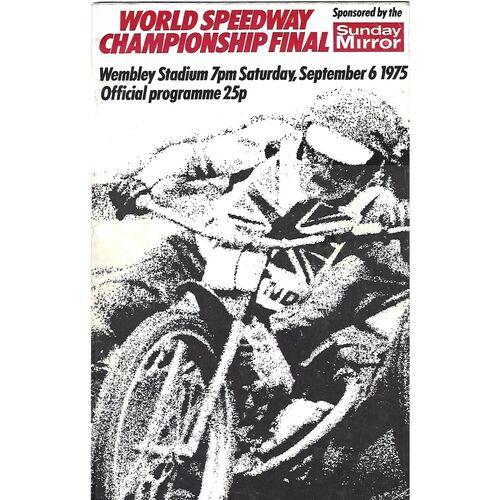 World Championship Speedway Programmes