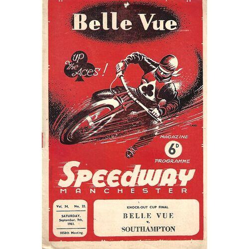 1961 Knockout Cup Final Belle Vue v Southampton (09/09/1961) Speedway Programme