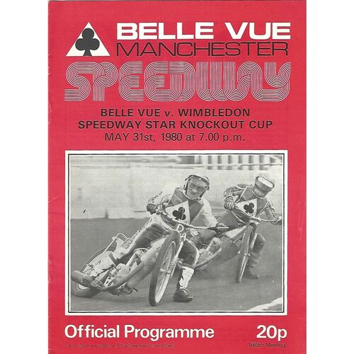 Knockout Cup Speedway Programmes
