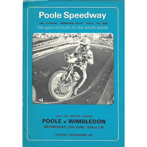 Poole Home Speedway Programmes