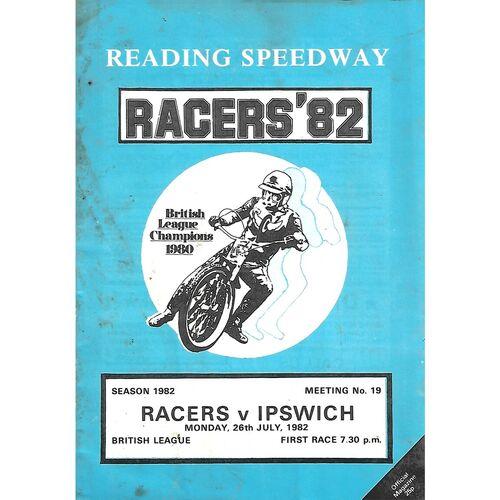 Ipswich Away Speedway Programmes