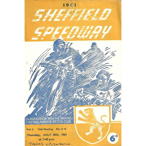 Plymouth Away Speedway Programmes
