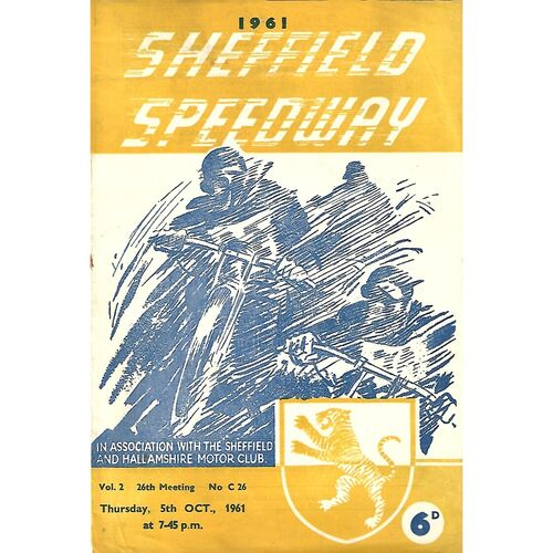 1961 Northern Riders Championships 05/10/1961) Speedway Programme