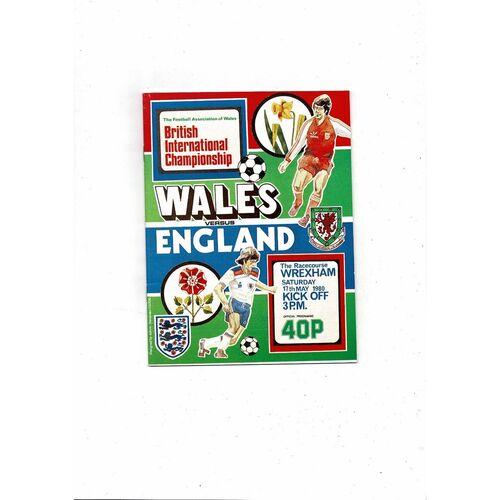 1980 Wales v England Football Programme
