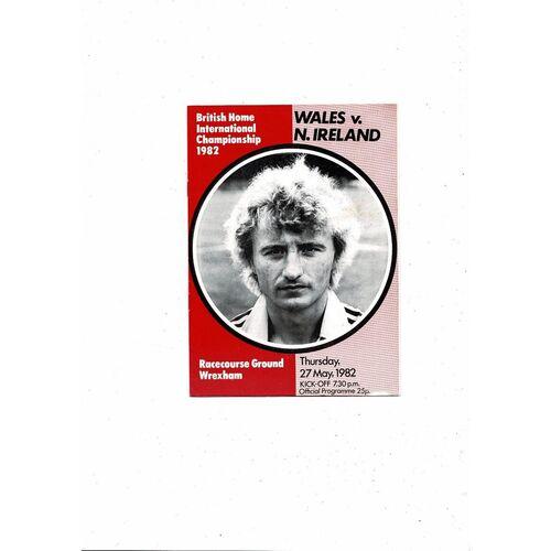 1982 Wales v Northern Ireland Football Programme @ Wrexham