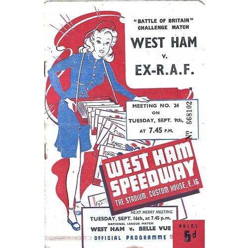 Ex R.A.F Away Speedway Programmes