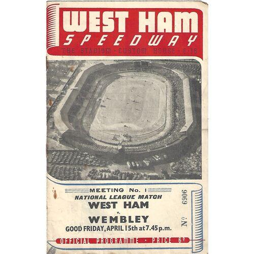 Wembley Away Speedway Programmes