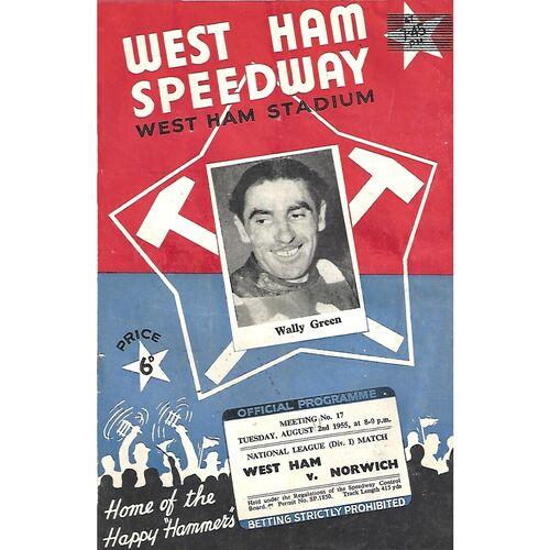 Norwich Away Speedway Programmes
