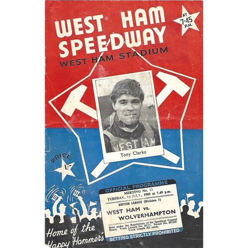 1969 West Ham v Wolverhampton British League (01/07/1969) Speedway Programme