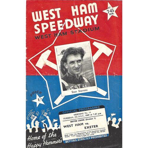 Exeter Away Speedway Programmes