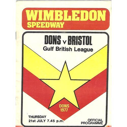 Bristol Away Speedway Programmes