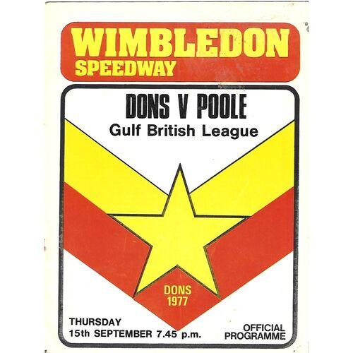 Poole Away Speedway Programmes