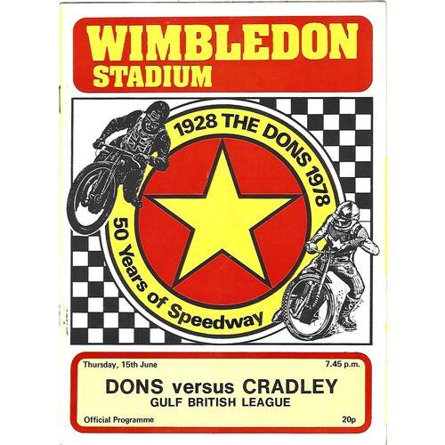 Cradley Heath Away Speedway Programmes