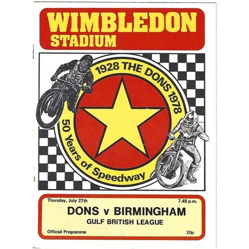 Birmingham Away Speedway Programmes