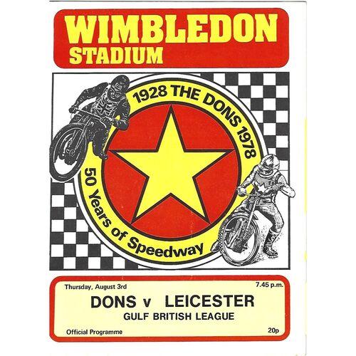 Leicester Away Speedway Programmes