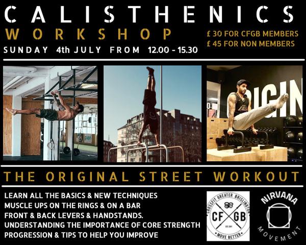 Weekly Bulletin- Calisthenics Workshop Info