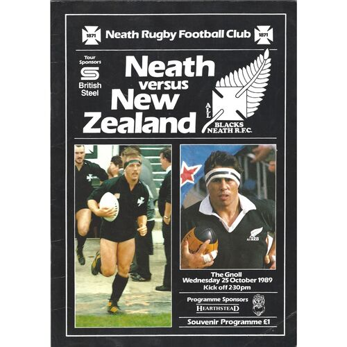 New Zealand Rugby Union Programmes