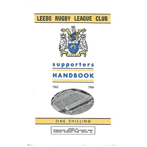 1965/66 Leeds Rugby League Supporters Handbook