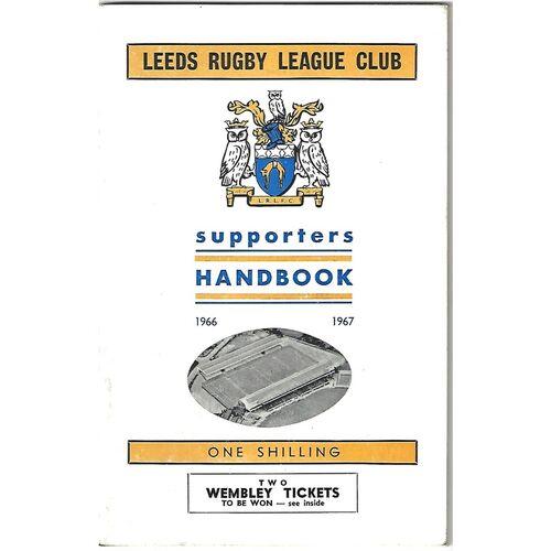 1966/67 Leeds Rugby League Supporters Handbook