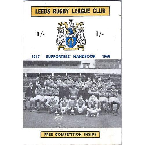 1967/68 Leeds Rugby League Supporters Handbook