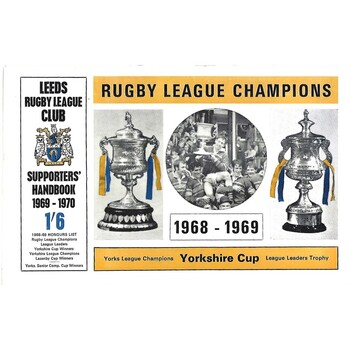 1969/70 Leeds Rugby League Supporters Handbook