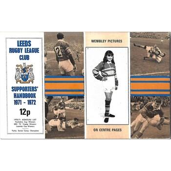 1971/72 Leeds Rugby League Supporters Handbook