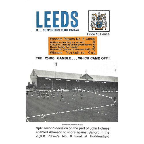 1973/74 Leeds Rugby League Supporters Handbook