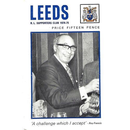 1974/75 Leeds Rugby League Supporters Handbook