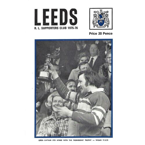 1975/76 Leeds Rugby League Supporters Handbook