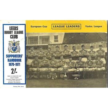 1970/71 Leeds Rugby League Supporters Handbook