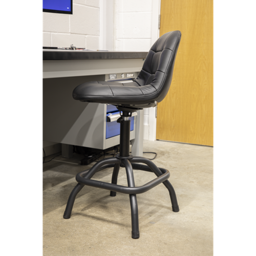 Workshop Pneumatic Stool with Adjustable Height Swivel Seat - Sealey - SCR01B