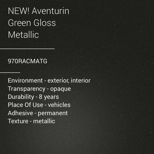 ORACAL® 970RA - Aventurin Green Gloss Metallic
