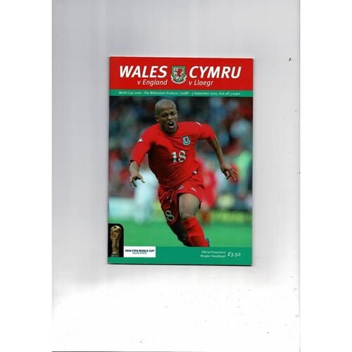 2005 Wales v England Football Programme