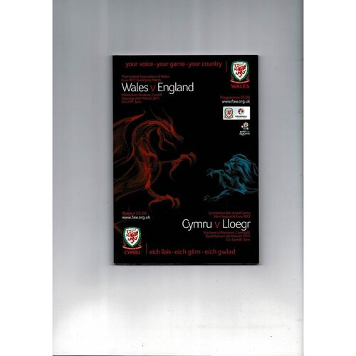 2011 Wales v England Football Programme + Three Lions Fanzine