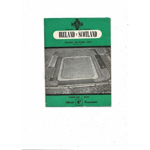 1953 Northern Ireland v Scotland Football Programme