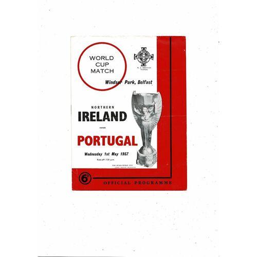 1957 Northern Ireland v Portugal Football Programme